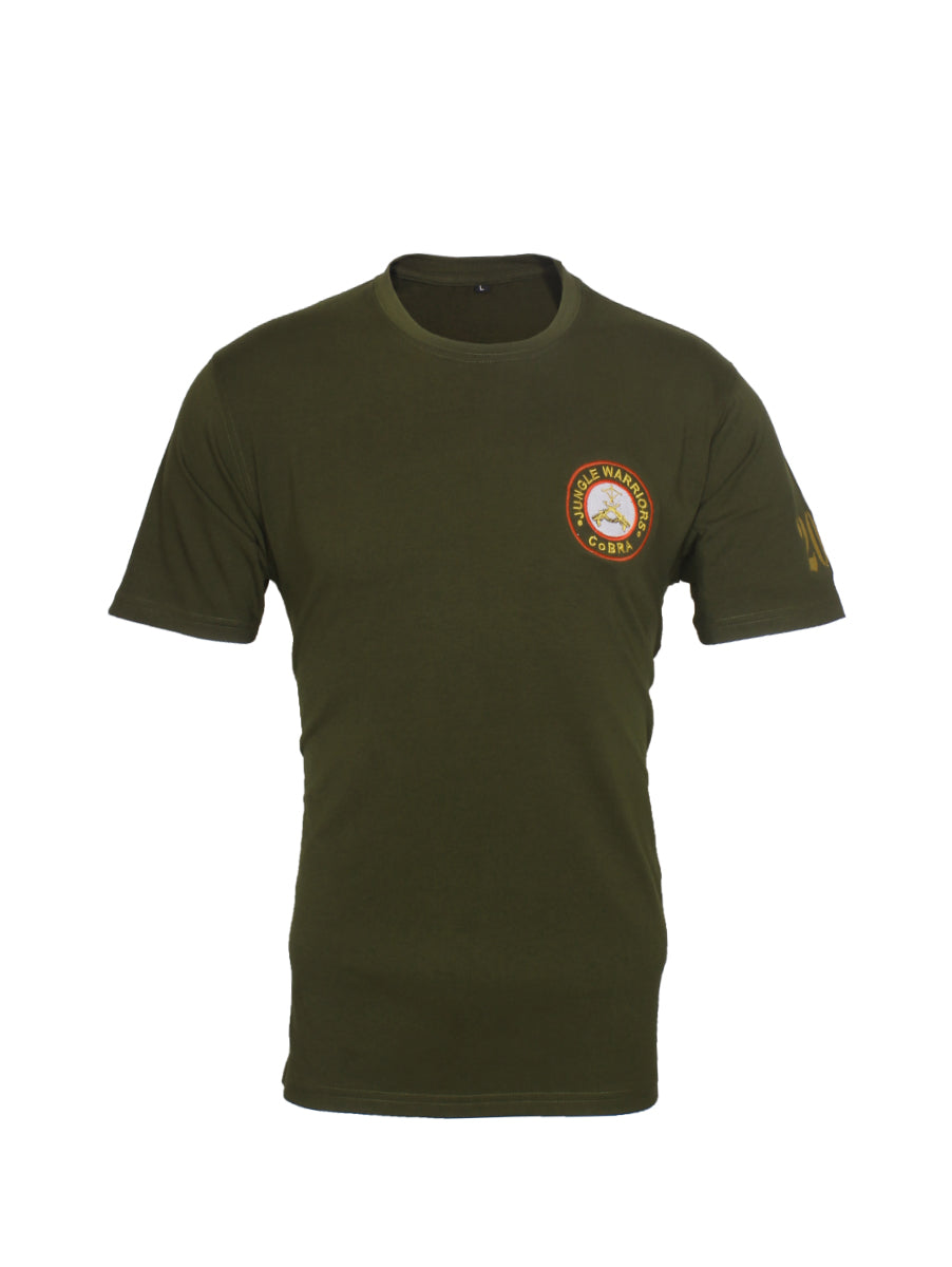 Half Sleeve Round Neck T-Shirt Cobra Battalion Central Reserve Police Force