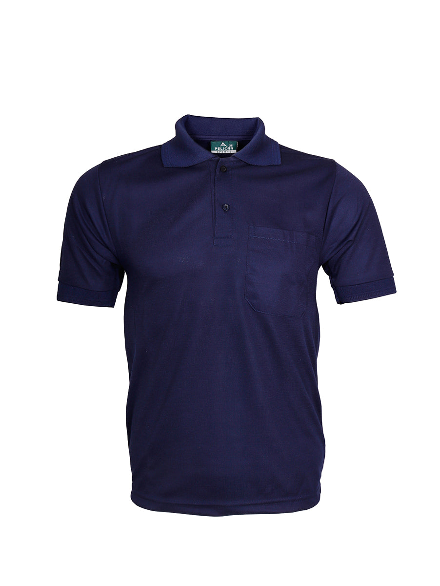 Blue Half Sleeve Polo T-Shirt