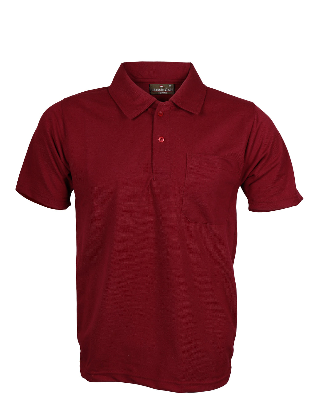 Maroon Half Sleeve Polo T-Shirt