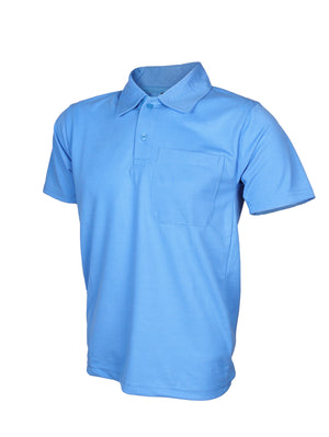 Sky Blue Half Sleeve Polo T-Shirt