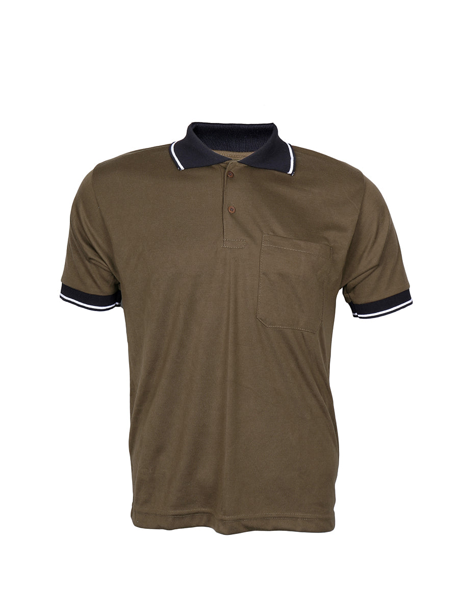 Olive Green Half Sleeve Polo T-Shirt