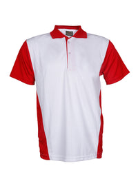 White & Red  Half Sleeve Polo T-Shirt