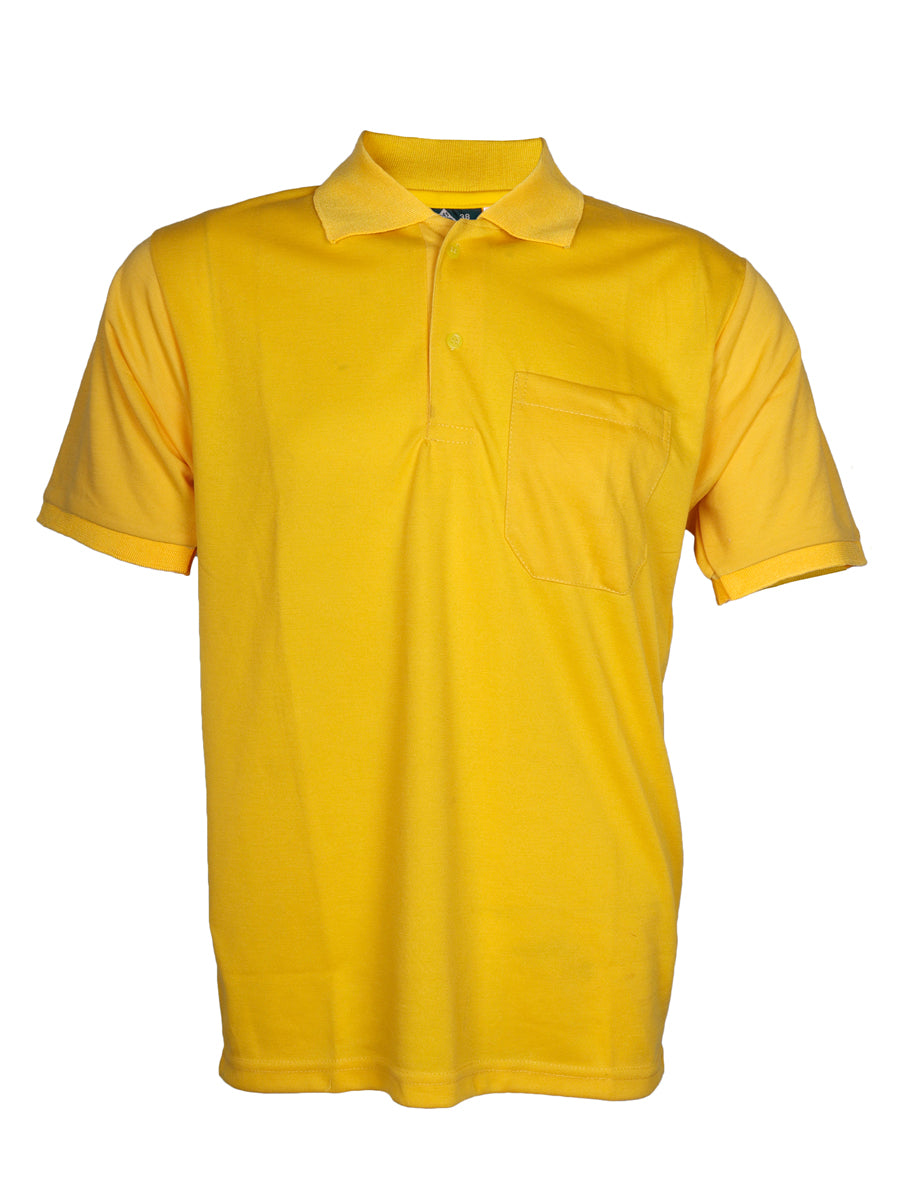 Yellow Half Sleeve Polo T-Shirt