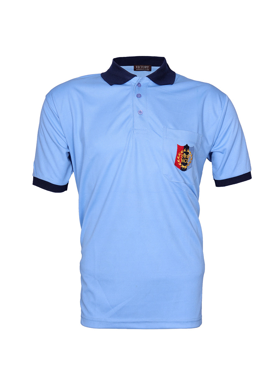 Sky Blue Half Sleeve Polo T-Shirt National Cadet Corps
