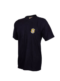 Black Half Sleeve Round Neck T-Shirt Black Cat Commando National Security Guards