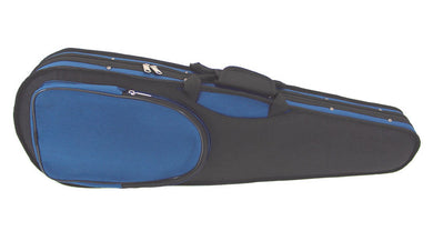 GSJ Styro Shaped Violin Case Black/Red  4/4-1/4  Black/Blue 4/4-1/8