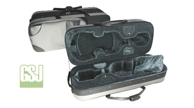 GSJ Double Violin Case 2 x 4/4 Black/Grey