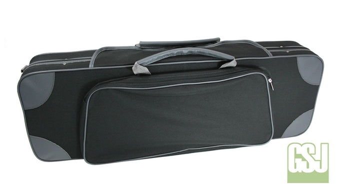 GSJ Styro Oblong Violin Case 4/4 Black/Grey & Grey/Grey 4/4