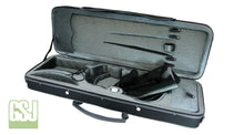 Load image into Gallery viewer, GSJ Styro Oblong Violin Case 4/4 Black/Grey & Grey/Grey 4/4
