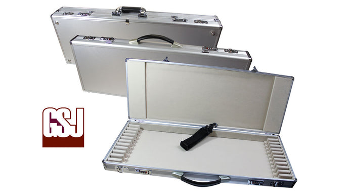 GSJ Silver Alloy Bow Case  - 24 BOWS