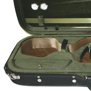 Oblong Violin Case 4/4 black/red, blue/blue, black/green