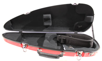 Sinfonica Viola Shaped Case White, Black, Cherry Red, Purple