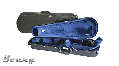 Shaped Violin Case 4/4 black/red or blue/blue (3/4 & 1/2 Blk/Red only)