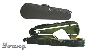 DELUXE Shaped Violin Case 4/4 black/green