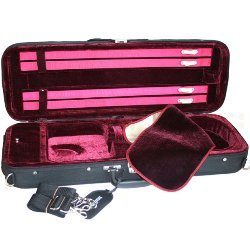 Oblong Viola Case 16/16.5inch black/red