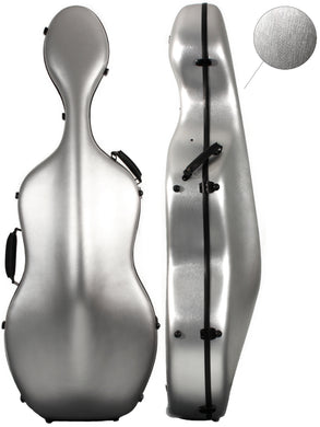 Polycarbonate Cello Case Brushed Silver  (With/Without Wheels)