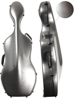 Polycarbonate Cello Case Silver Weave (With/without Wheels)