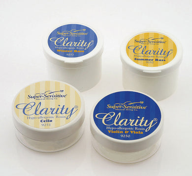 Clarity Rosin Violin/Viola/Cello Clear Hypo-Allergenic.
