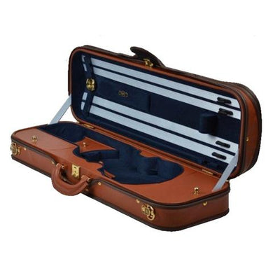 Negri Diplomat Leather Violin 4/4 COGNAC/BLUE VELVET