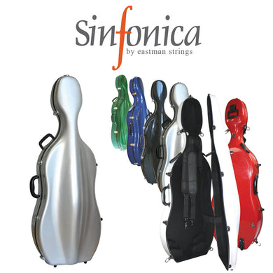 Sinfonica Z-Tec Cello Case 3/4 & 1/2 blue,black & red