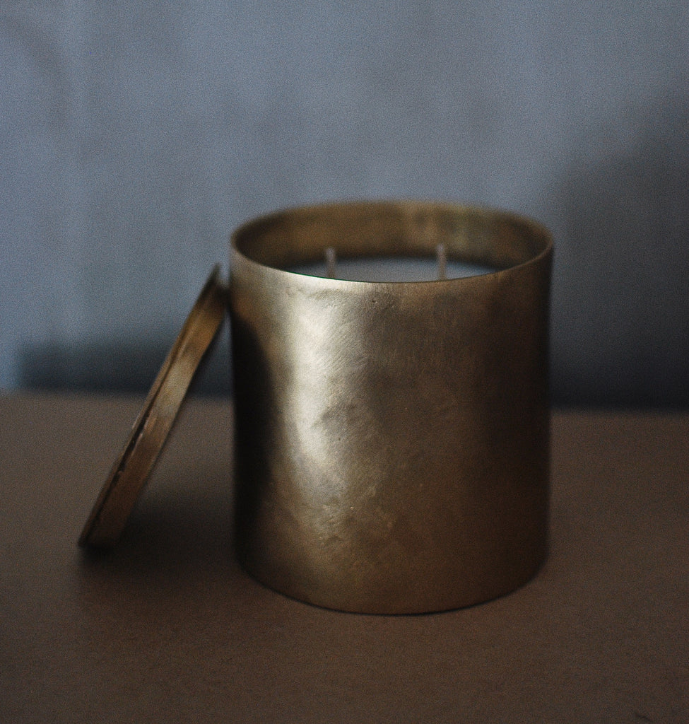 2-Wick Candle in Lake Sebu Brass
