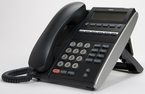 NEC DTL-6D-1 (BK) - 6 Button Display Business Telephone