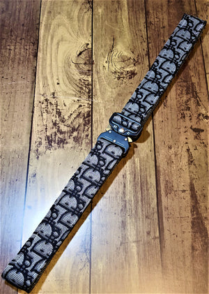 Custom Grey & Black Dior Tactical Belt - Uniquefit Apparel