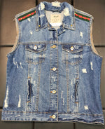 Denim GG Sleeveless Jacket -