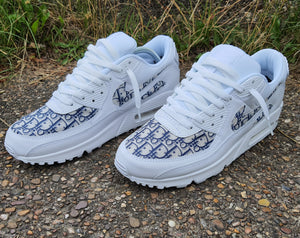 White & Blue Dior Nike Air Max 90 -