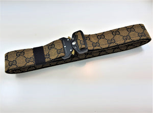 Load image into Gallery viewer, Custom Black & Tan GG Tactical Belt -
