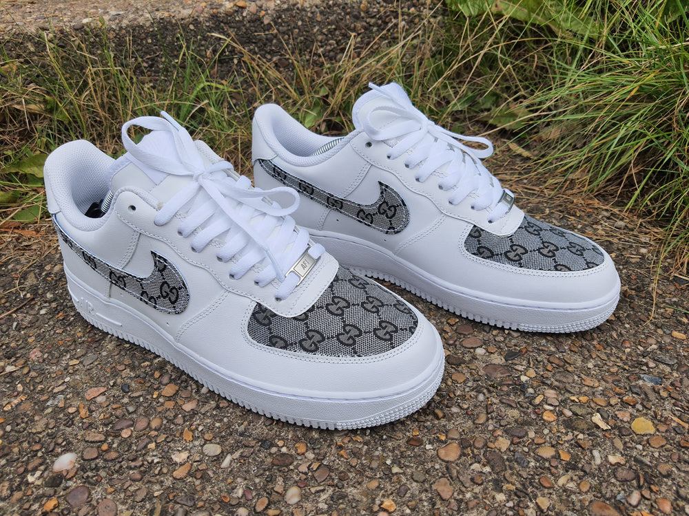 White, Black & Grey AF1/ Gucci Air Force 1 Low -