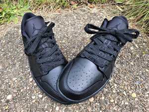 Black Nike Air Jordan 1 Low With Black GG Laces -