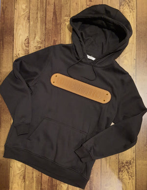 Load image into Gallery viewer, Custom Black Heavy Monogram Hoodie -