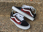 White, Black & Red Old skool GG Vans -