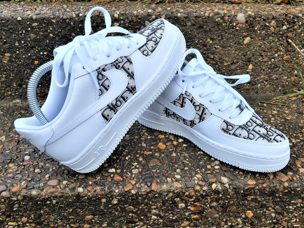 White Nike AF1/ Dior Air Force 1 low -