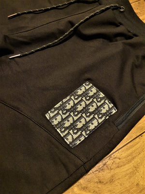 Load image into Gallery viewer, Custom Black Dior Joggers -