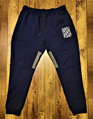 Load image into Gallery viewer, Custom Navy Dior Joggers -