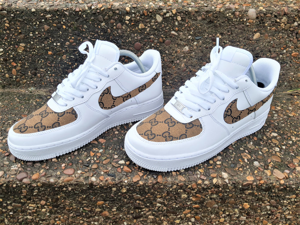 White, Black & Tan Nike AF1/ GG Air Force 1 Low -