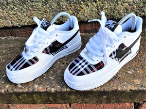 White & Black Nike AF1/ Burberry Air Force 1 low -