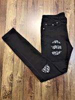 Custom Black Distressed Dior Slim Fit Jeans -