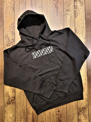 Load image into Gallery viewer, Custom Black Heavy Dior Hoodie -