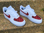 White, Black & Red Nike AF1/ GG Air Force 1 Low -