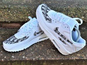 Load image into Gallery viewer, White & Black Dior Nike Air Max 90 -