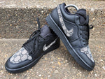 Grey & Black Nike Gucci Air Jordan 1 Low's