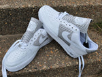 Grey & White Nike AF1 Python Monogram Air Force 1 Low