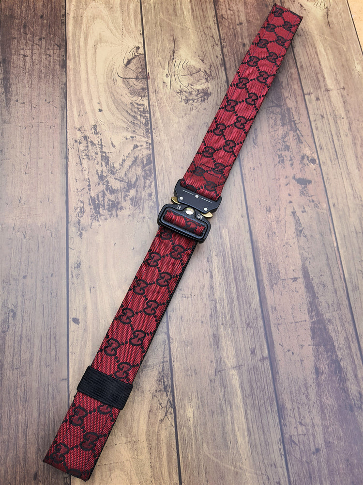 Custom Black & Red GG Tactical Belt - Uniquefit Apparel