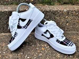 Load image into Gallery viewer, White Nike AF1/ Burberry Air Force 1 low - Uniquefit Apparel