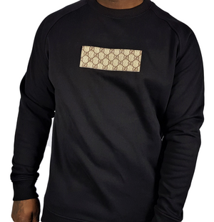 Black GG Crew Neck Sweatshirt -