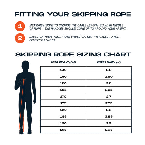 GND Skipping Rope Size Guide