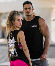 TBC Unisex Muscle Tank // Black Wolf Pack